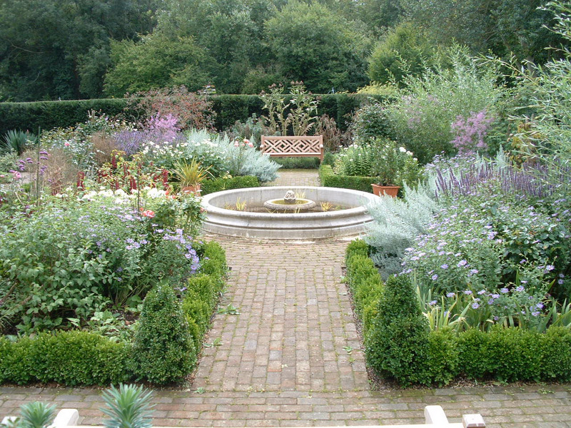 A formal Elizabethan garden I designed in Ticehurst near Wadhurst, East Sussex