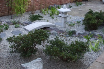 Japanese landscape design small garden in Tunbridge Wells